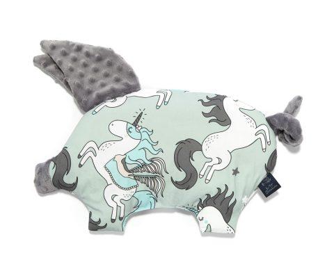 βαμβακερό βρεφικό μαξιλαράκι Sleepy Pig Mint Unicorn-Grey