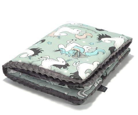 Παιδική Κουβερτούλα Mint Unicorn-Grey