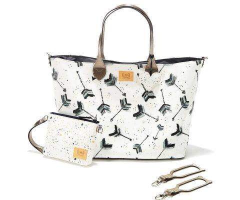 Τσάντα Mommy's Bag White Royal Arrows